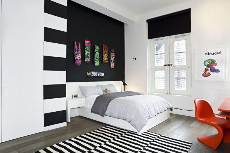Дизайн интерьера комнаты для подростка - фото