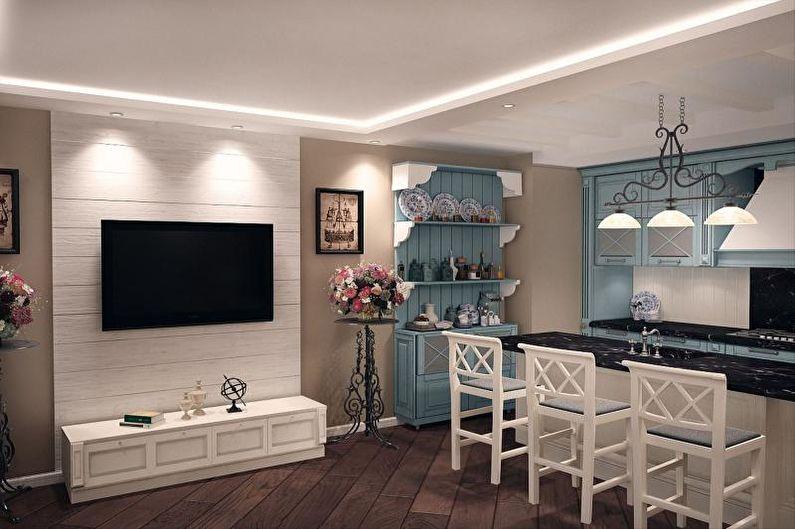 Дизайн кухни-студии - Декор