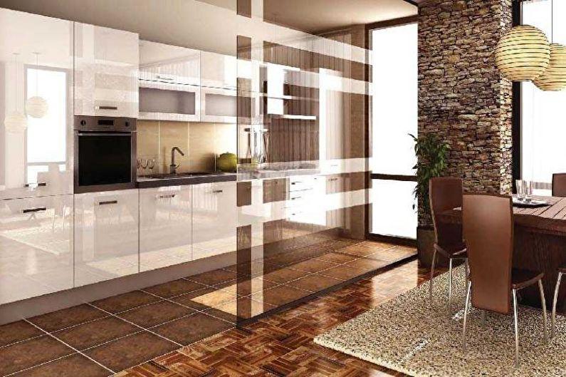 Дизайн кухни-студии - Отделка