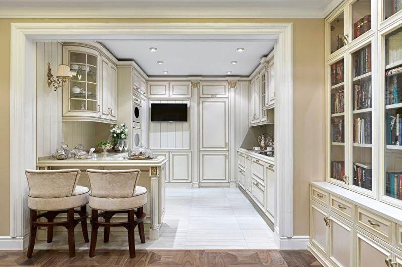 Кухня-студия в классическом стиле - Дизайн интерьера