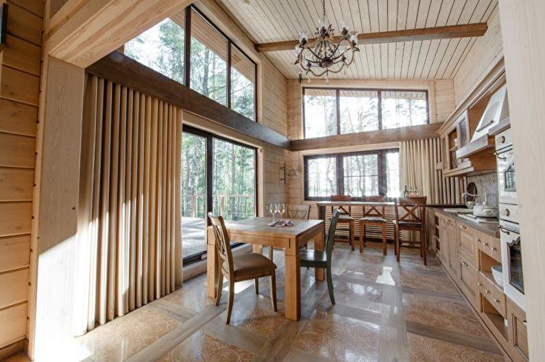 Кухня-студия в стиле кантри - Дизайн интерьера