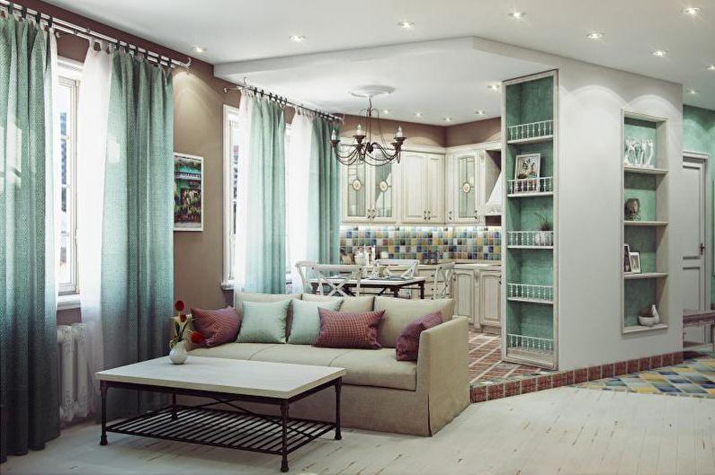 Кухня-студия в стиле прованс - Дизайн интерьера