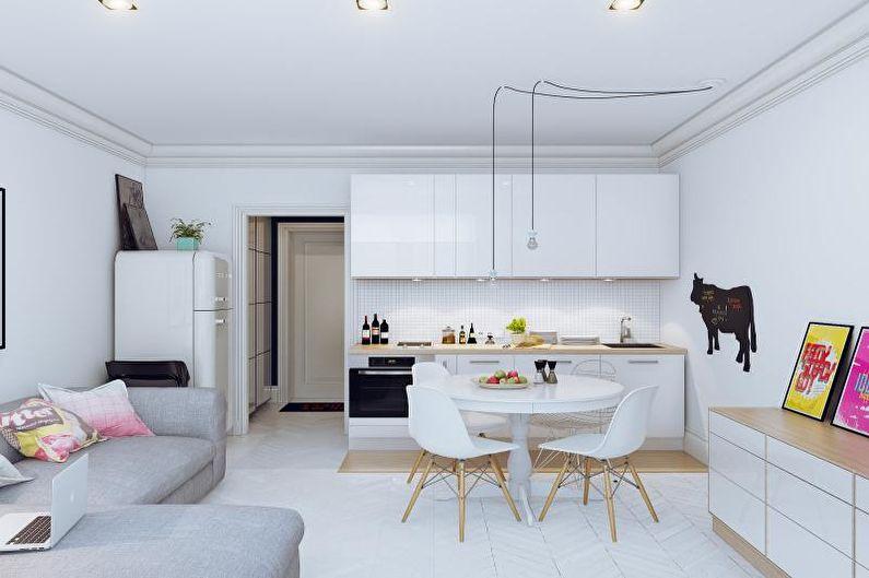 Кухня-студия в ретро стиле - Дизайн интерьера