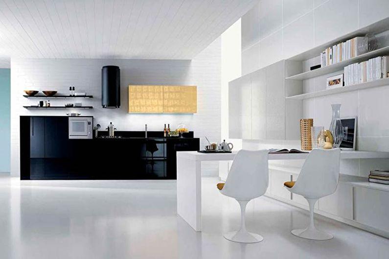 Кухня-студия в стиле хай-тек - Дизайн интерьера