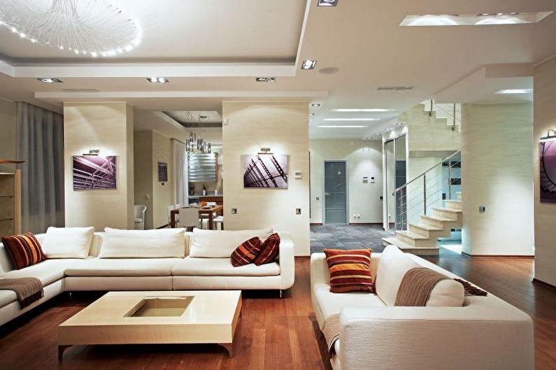 Гостиная - Дизайн квартиры в современном стиле