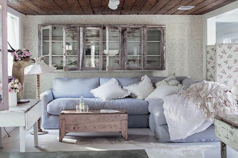 Гостиная - Дизайн квартиры в стиле прованс
