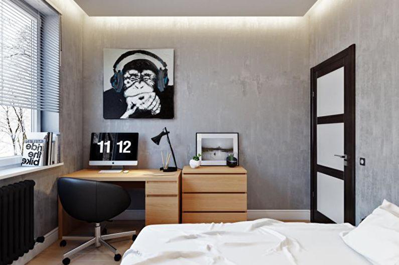 Комната мальчика-подростка в стиле минимализм - Дизайн интерьера