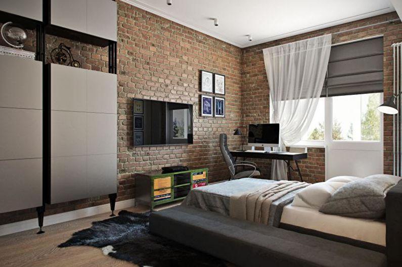 Комната мальчика-подростка в стиле лофт - Дизайн интерьера