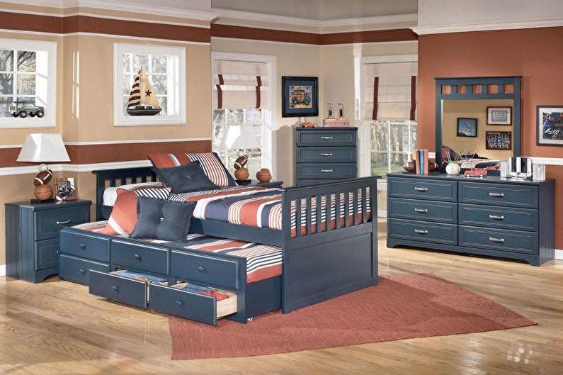 Комната мальчика-подростка в средиземноморском стиле - Дизайн интерьера