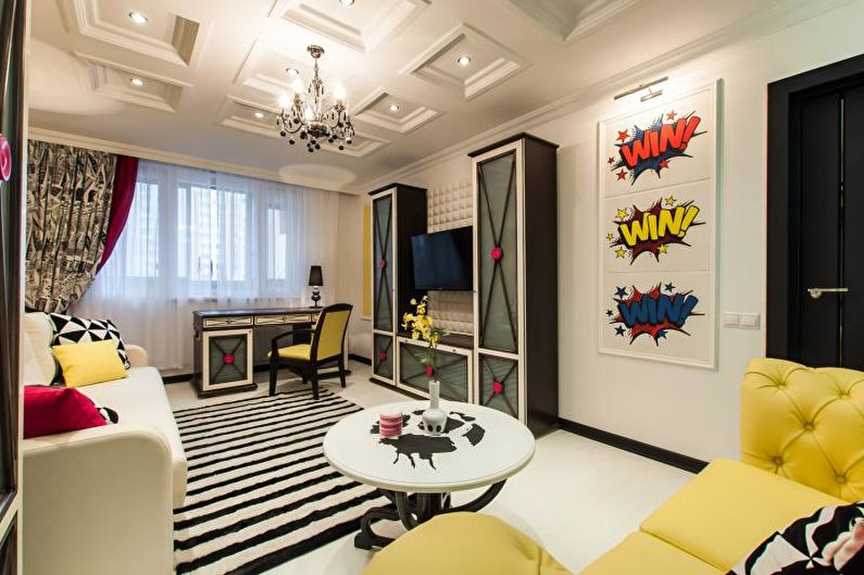 Комната мальчика-подростка в стиле китч - Дизайн интерьера