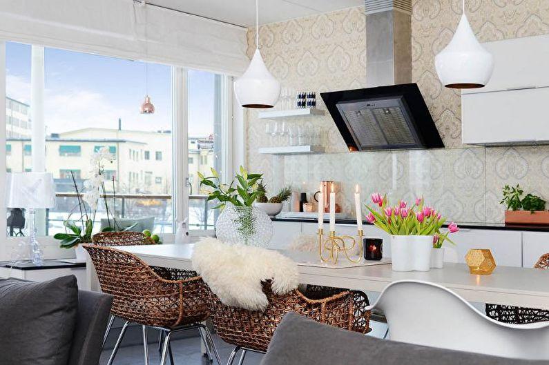 Кухня - Дизайн квартиры в скандинавском стиле