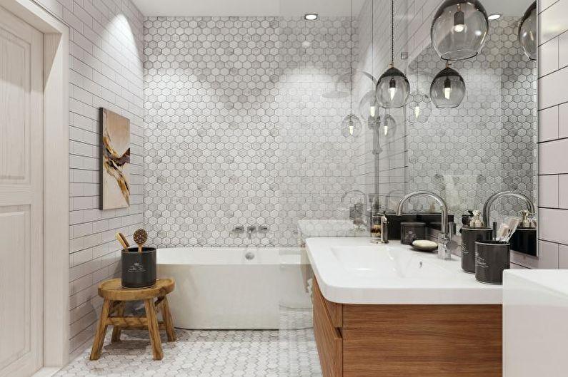Ванная комната - Дизайн квартиры в скандинавском стиле