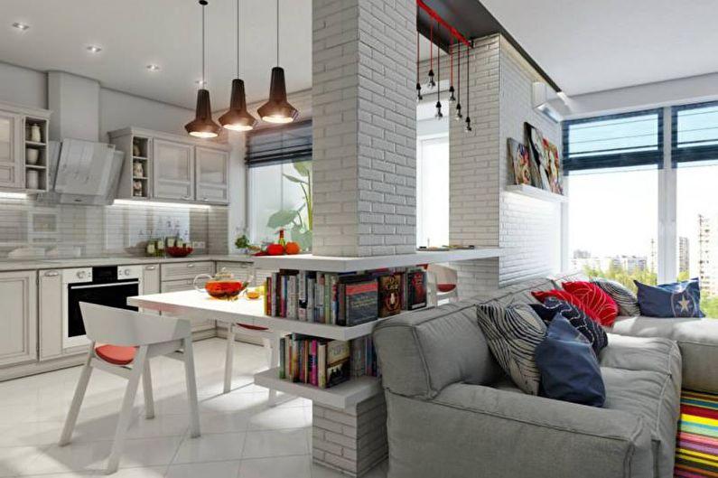 Дизайн интерьера квартиры в скандинавском стиле - фото