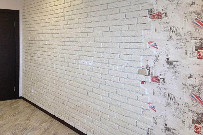 Кирпичная стена в интерьере - Флизелиновые обои