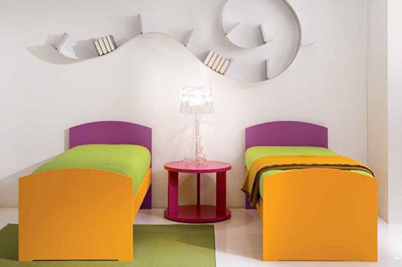 Дизайн интерьера детской комнаты в стиле минимализм - фото
