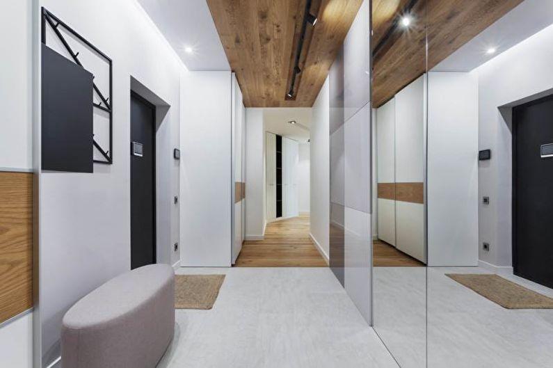 Дизайн интерьера прихожей в стиле минимализм - фото