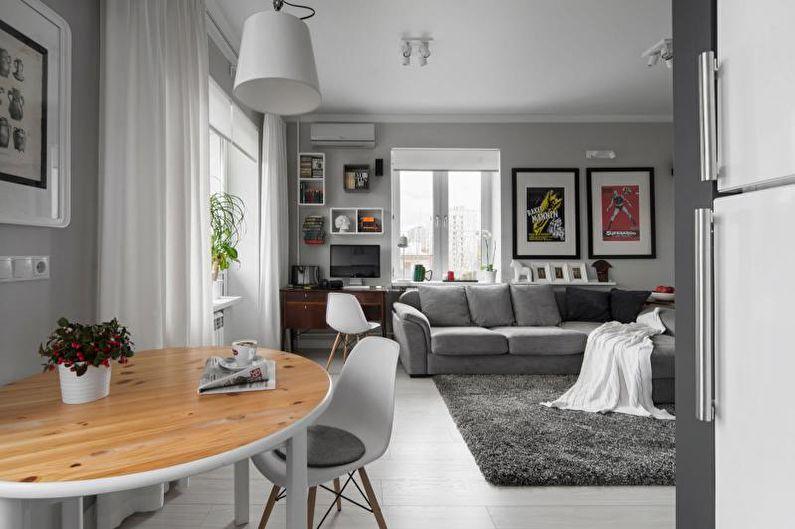 Дизайн квартиры-студии в хрущевке - Мебель
