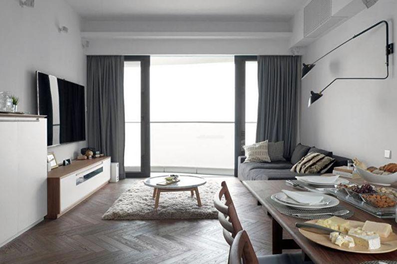 Дизайн интерьера квартиры-студии в хрущевке - фото