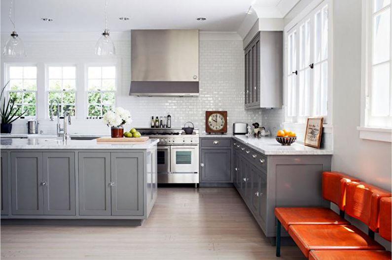 Дизайн серой кухни - Кухонная мебель