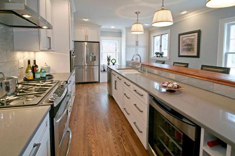 Дизайн интерьера кухни в сером цвете - фото