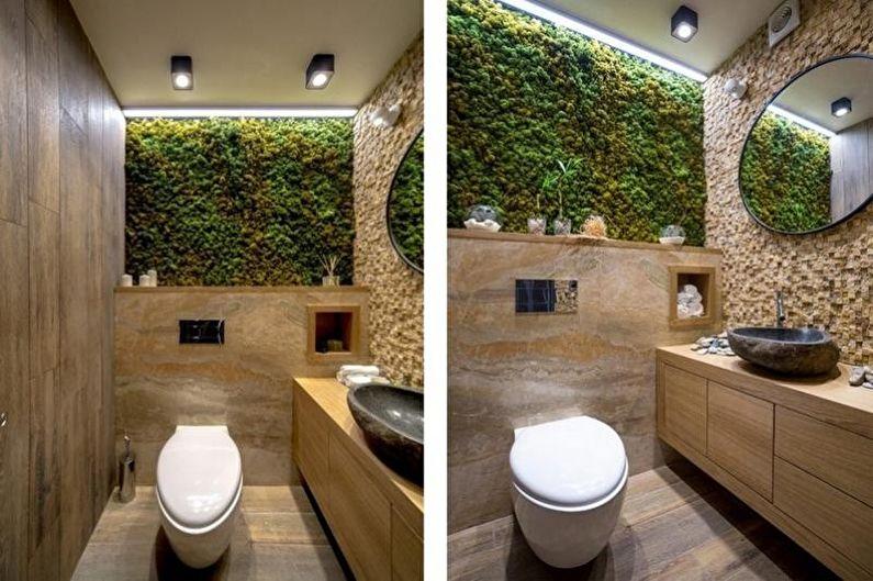 Маленький туалет в экостиле - Дизайн интерьера