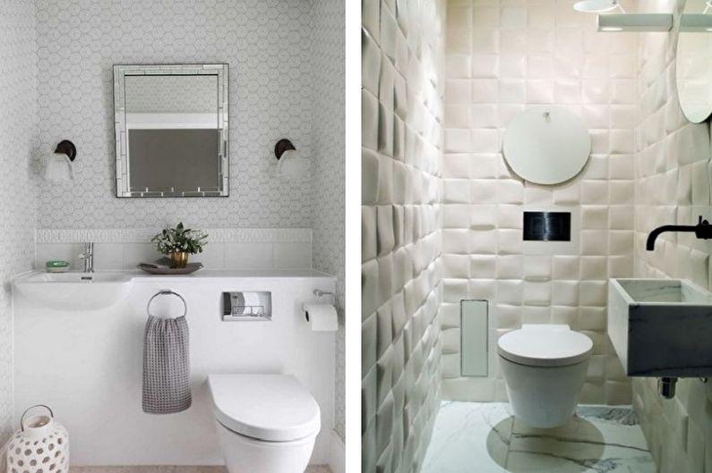 Белый маленький туалет - Дизайн интерьера