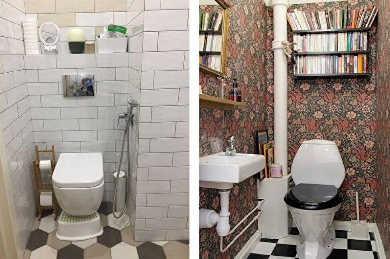 Дизайн маленького туалета - Отделка пола
