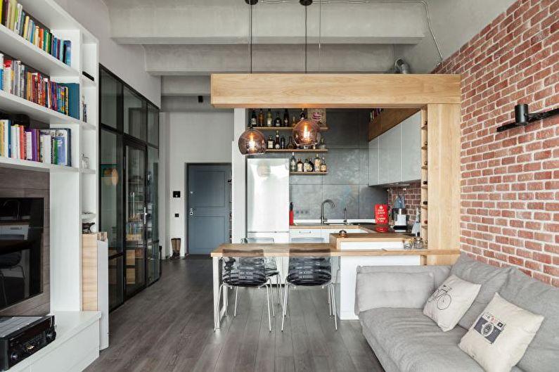 Дизайн двухкомнатной квартиры - Варианты зонирования