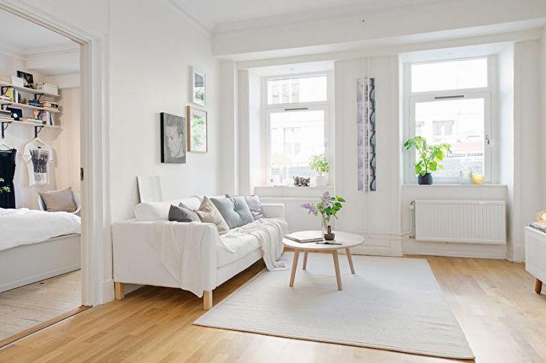 Дизайн интерьера двухкомнатной квартиры - фото
