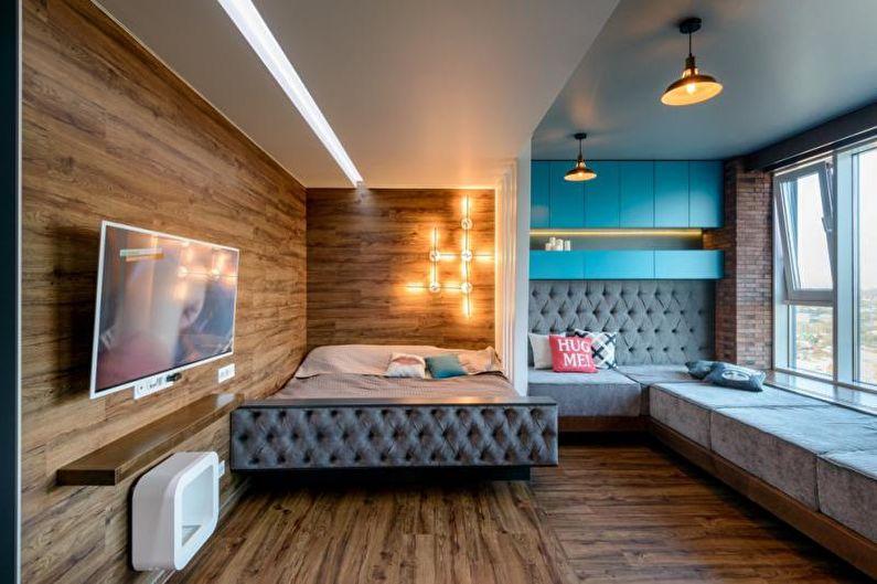 Правила зонирования комнаты на спальню и гостиную