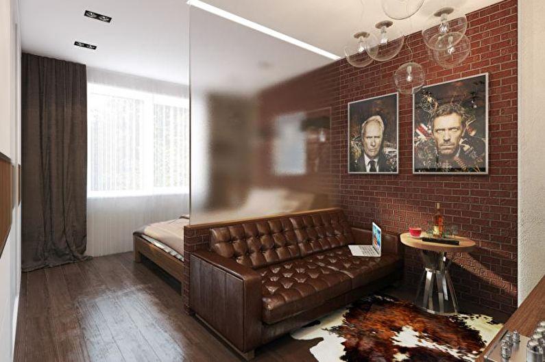 Зонирование комнаты на спальню и гостиную - Перегородки