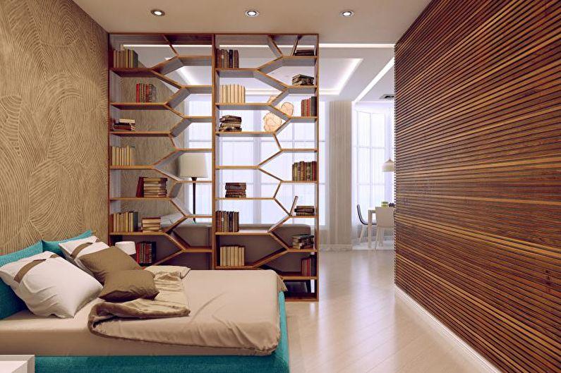 Мебель - Зонирование комнаты на спальню и гостиную