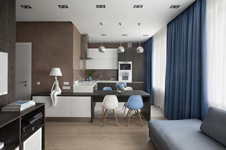 Малогабаритная квартира в стиле минимализм - Дизайн интерьера