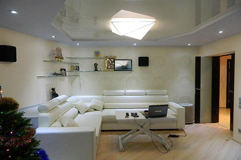 Дизайн малогабаритной квартиры - Отделка потолка