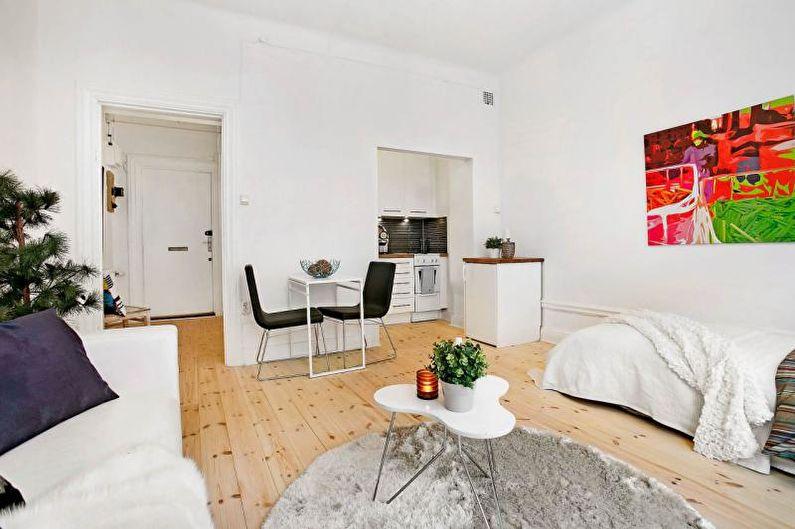Дизайн малогабаритной квартиры - Отделка пола
