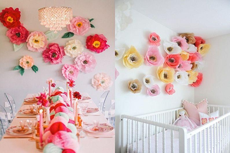 Цветы из бумаги своими руками - Идеи применения