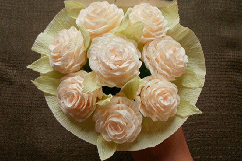 Цветы из бумаги своими руками - Розы