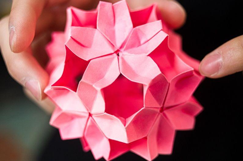 Цветы из бумаги своими руками - Ветвь сакуры