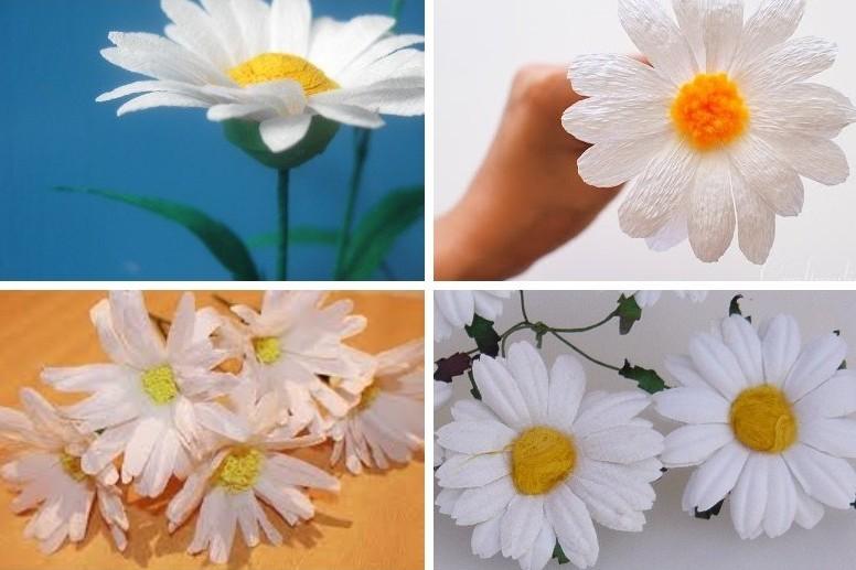 Ромашки - Цветы из бумаги своими руками