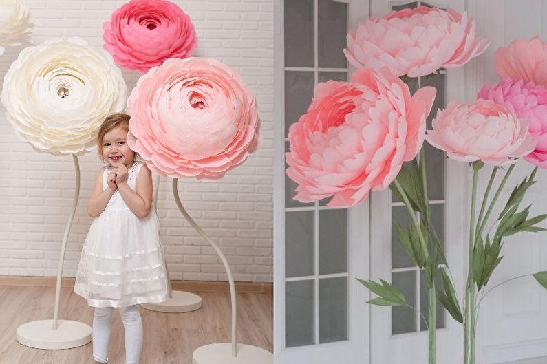 Цветы из бумаги своими руками - фото