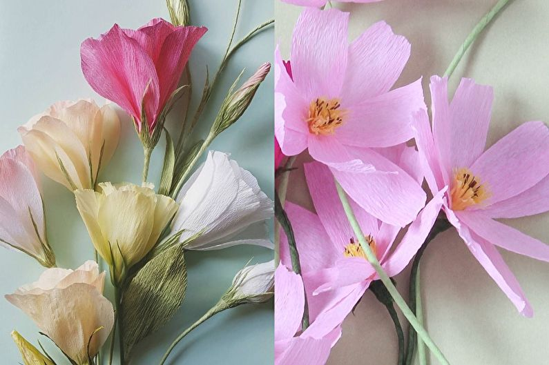 Как сделать цветы из гофрированной бумаги на открытке, поздравительные вера