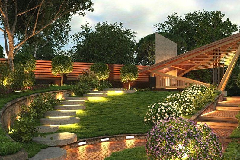 Ландшафтный дизайн дачного участка - Особенности
