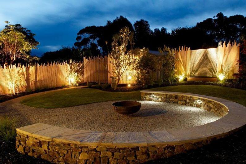 Ландшафтный дизайн дачного участка - Освещение