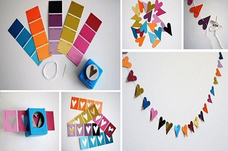 Бумажные гирлянды - Поделки из бумаги своими руками