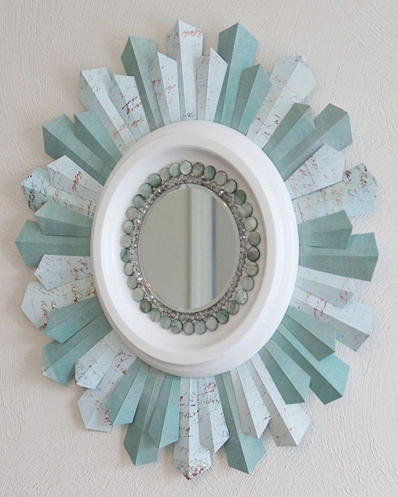 Поделки из бумаги своими руками - Рамка для зеркала