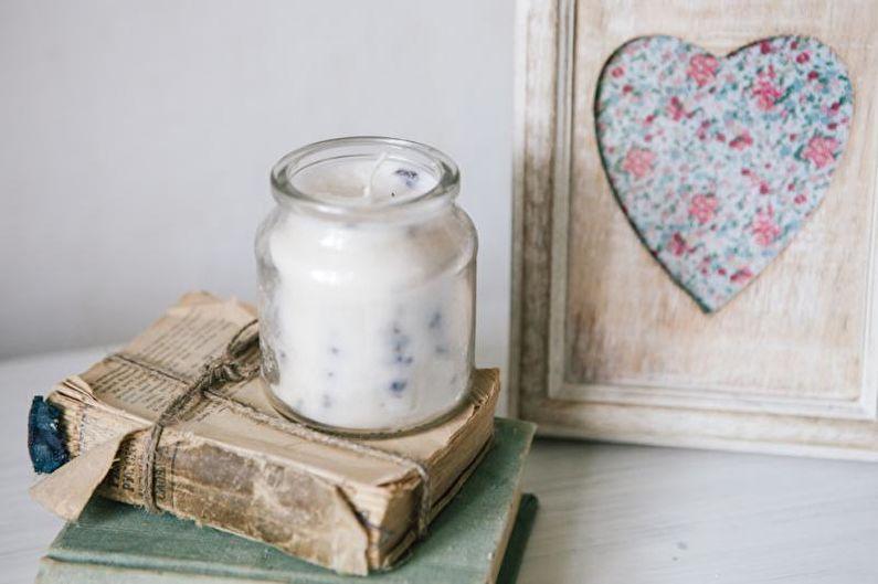 Лавандовая свеча - Декоративные свечи своими руками