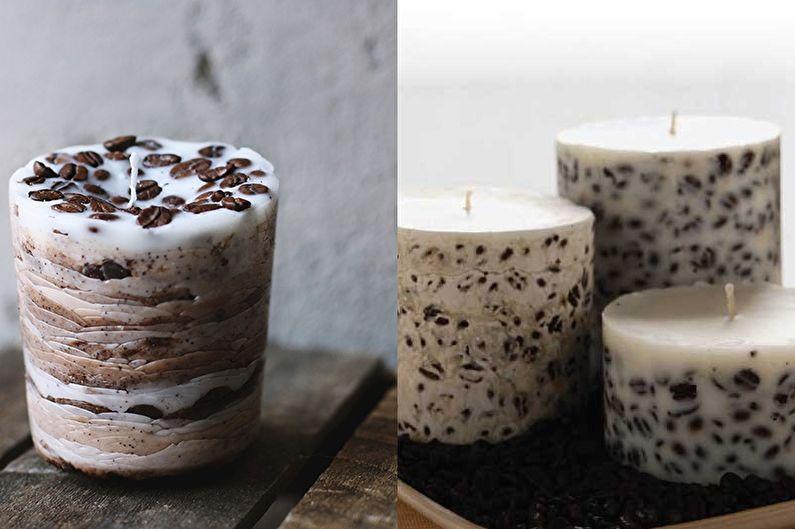 Кофейная свеча - Декоративные свечи своими руками