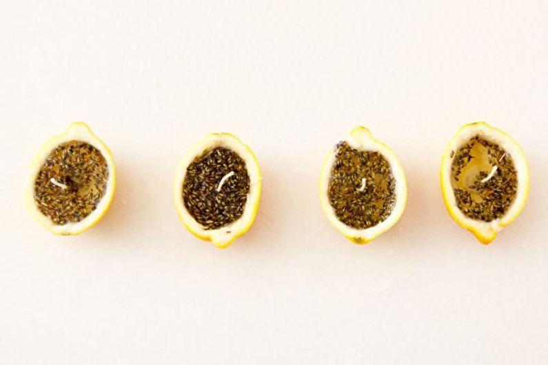 Лимонная свеча - Декоративные свечи своими руками