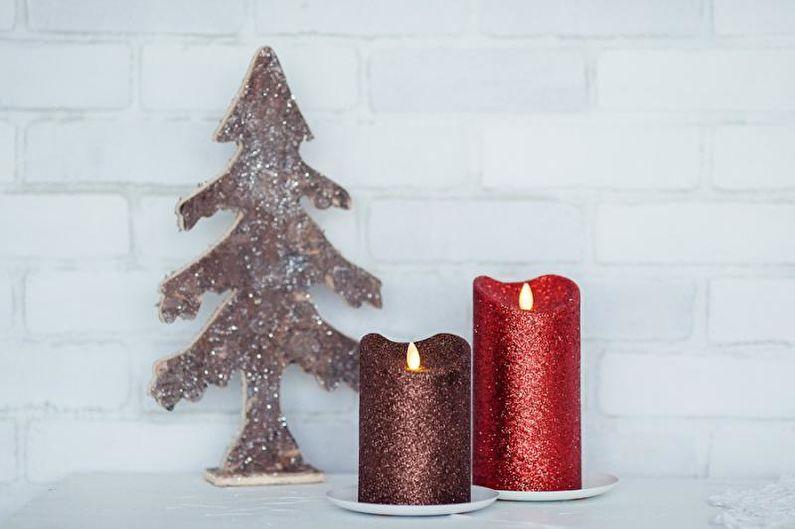 Свеча с блестками - Декоративные свечи своими руками