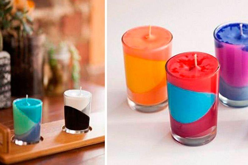 Разноцветная свеча своими руками 41